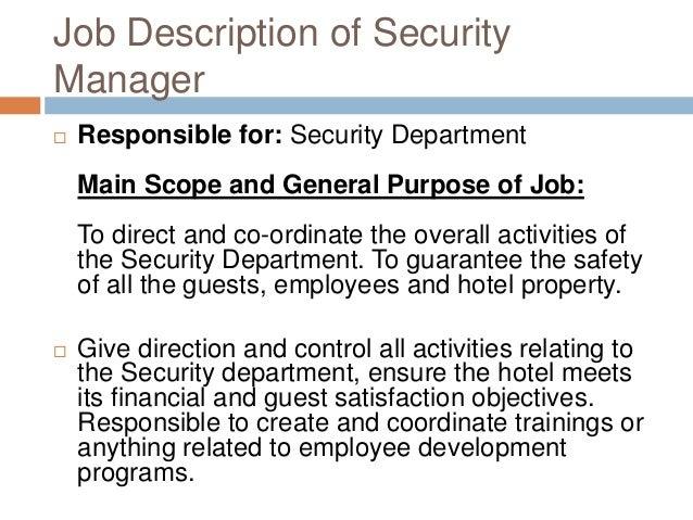 hotel security job description resume Oylekalakaarico