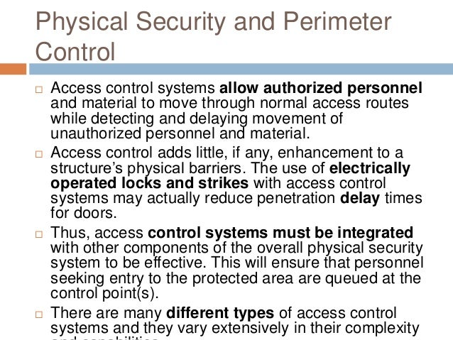 48 equipments for physical security
