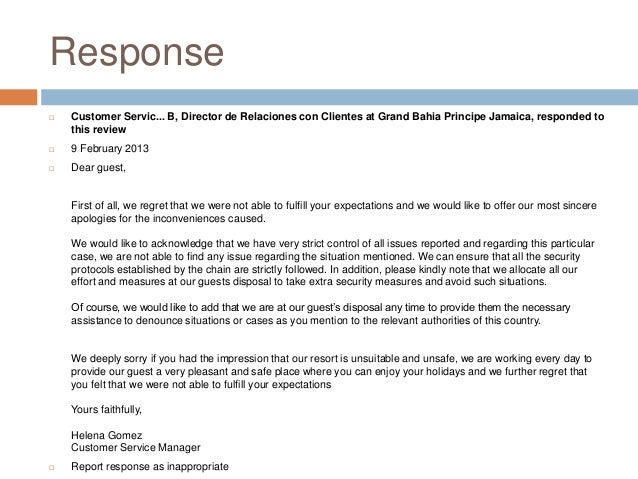 Customer service apology letter customer complaint response letterhotel apology letter formal spiritdancerdesigns Image collections