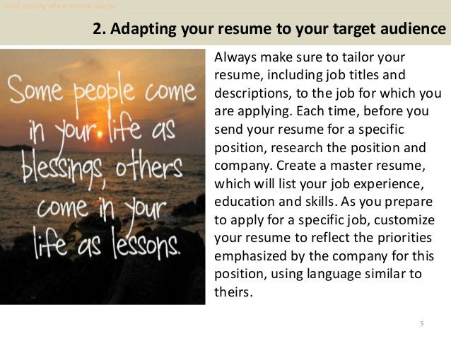 2. Adapting your resume to your target audience Always make sure to tailor your resume, including job titles and descripti...