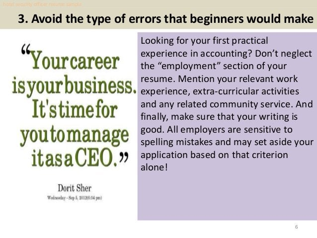 3. Avoid the type of errors that beginners would make Looking for your first practical experience in accounting? Don't neg...