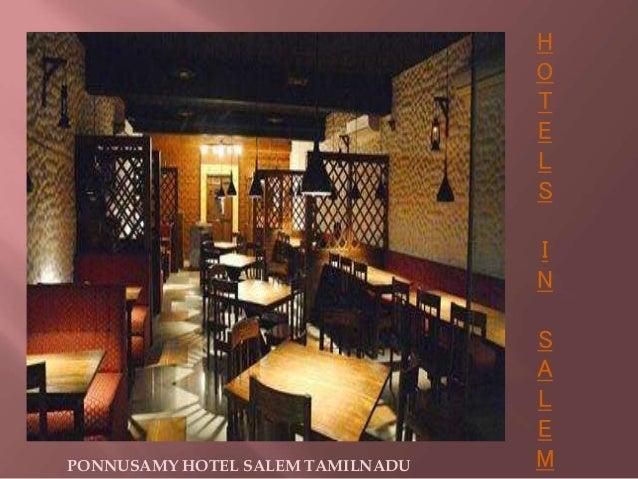 H O T E L S I N S A L E MPONNUSAMY HOTEL SALEM TAMILNADU