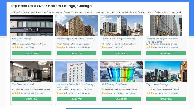 Hotel near bottom lounge chicago