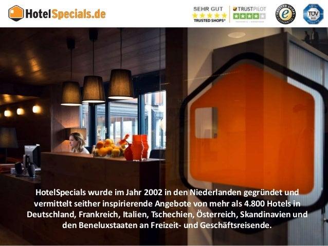 HotelSpecials - Unternehmenspräsentation für Wellnesshotels Slide 2