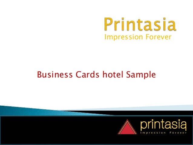 Impression Forever Business Cards hotel Sample
