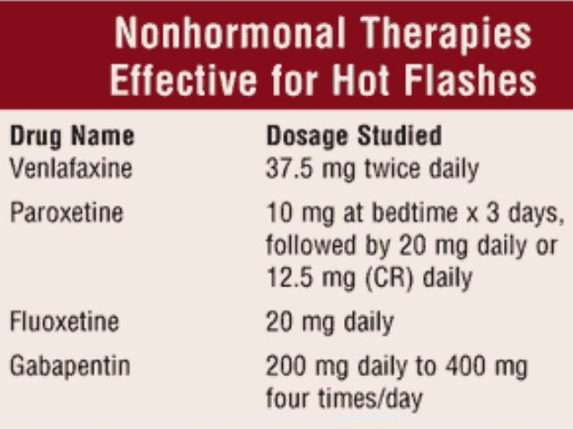 Paxil and hot flashes