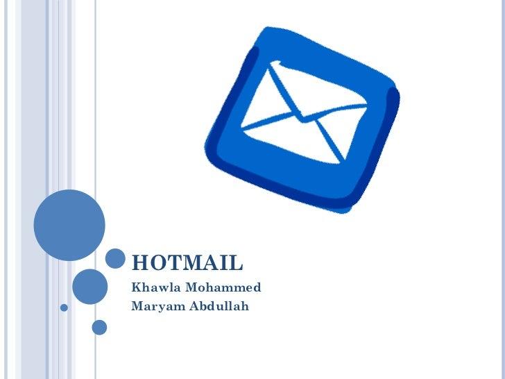 HOTMAIL Khawla Mohammed Maryam Abdullah