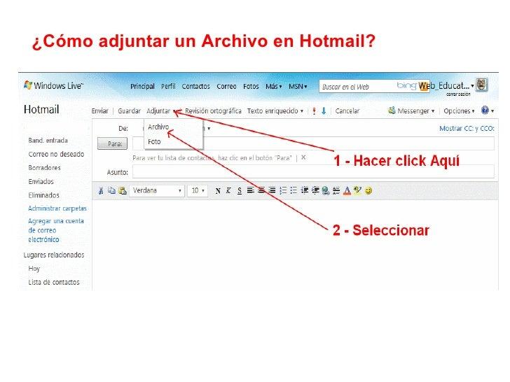 ¿Cómo adjuntar un Archivo en Hotmail?