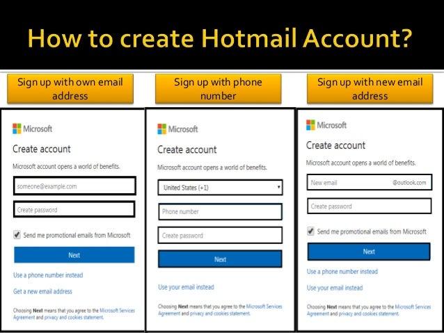 Address hotmailcom up email sign How to