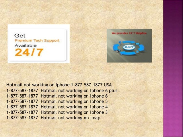 hotmail iphone 5 not working