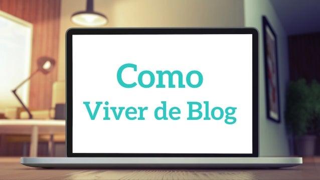 Como Viver de Blog