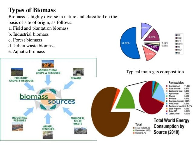 the different types and uses of fuels from biomass There are three ways to use biomass: (1) it can be burned to produce heat and   biomass fuels are composed of biopolymers that consist of various types of.