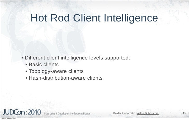 Hot Rod Client Intelligence                            • Different client intelligence levels supported:                  ...