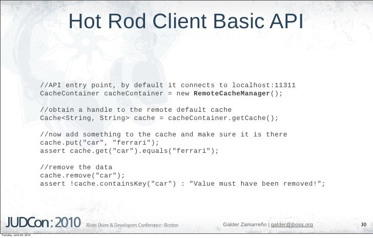 Hot Rod Client Basic API                           //API entry point, by default it connects to localhost:11311           ...