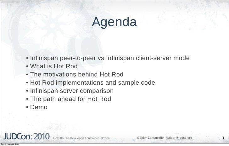 Agenda                           • Infinispan peer-to-peer vs Infinispan client-server mode                          • Wha...