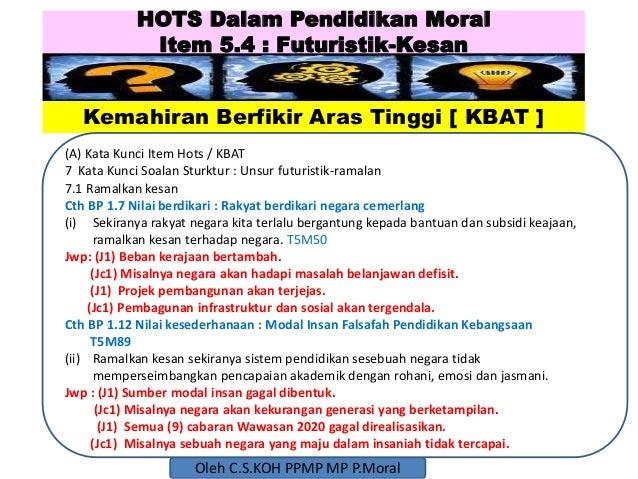 Hots dalam pendidikan moral