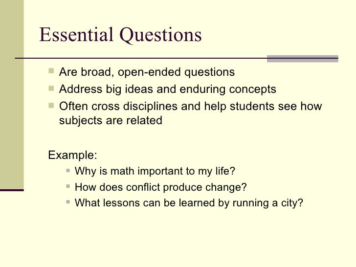 essay essential questions Essay about united states constitution and essential questions exam psc101: essential questions exam 1 chapter 1 what is the difference between politics and government.