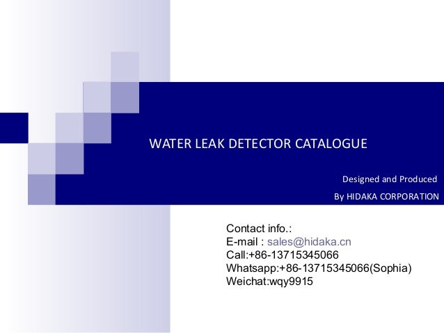 218email Salescontact Usco Ltd Mail: Hot Selling Wld 807 Water Leak Detector
