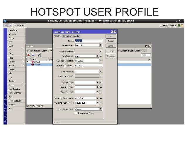 Mikrotik Hotspot With Queue Tree BW Management