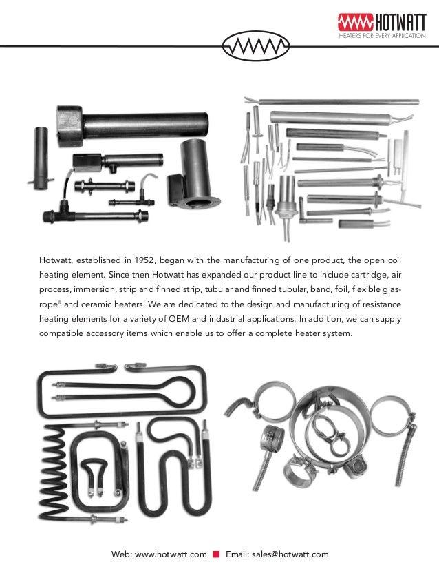 oem  u0026 industrial electric heating element catalog by hotwatt