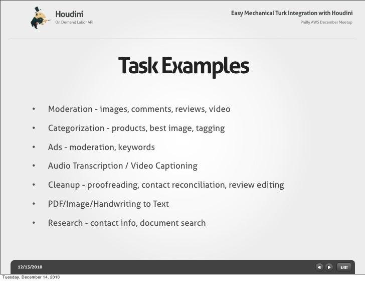 Easy Mechanical Turk Integration with Houdini Slide 3