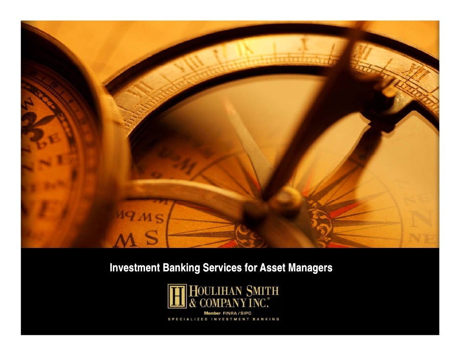 Investment Banking Services for Asset Managers