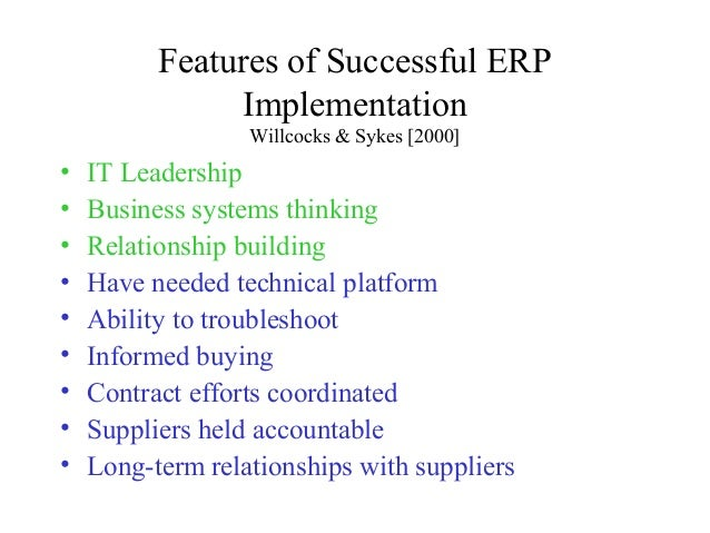 csf for erp implementation The research was conducted in two successive steps first, a literature review  was conducted to derive csfs for erp system implementation second, a survey .