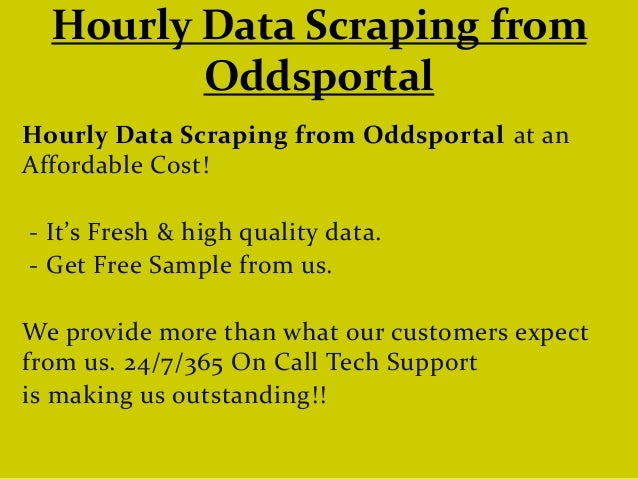 Hourly Data Scraping from Oddsportal