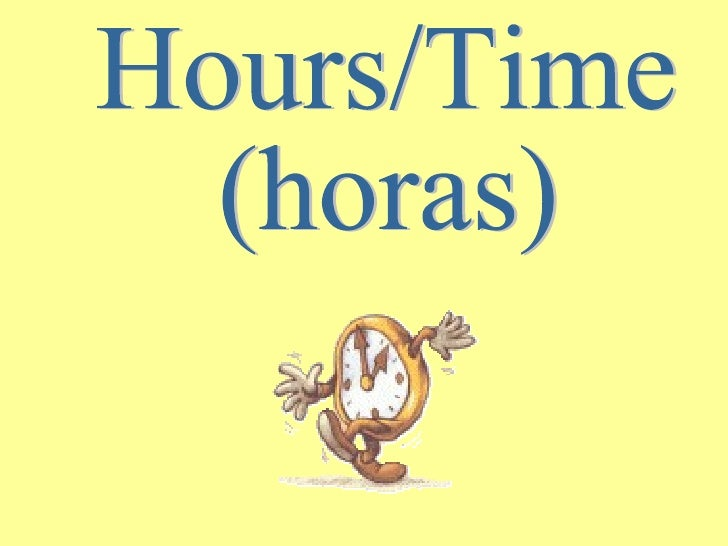 Hours/Time (horas)
