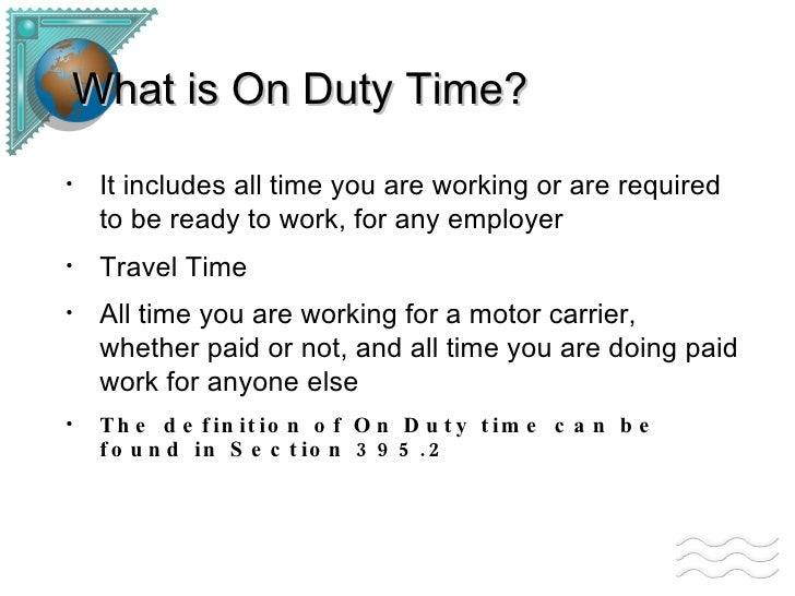 Dol Rules On Travel Time