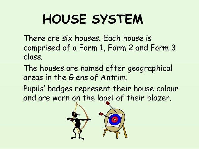 HOUSE SYSTEM There are six houses. Each house is comprised of a Form 1, Form 2 and Form 3 class. The houses are named afte...