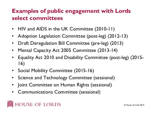 what is an example of a select committee