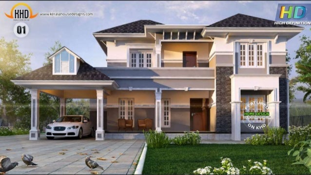 New kerala house plans october 2015 for Home designs 2016