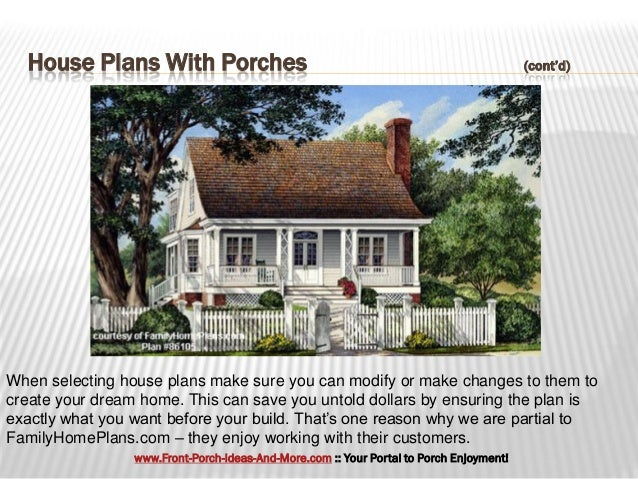 Fantastic House Plans With Porches