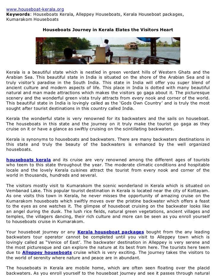 www.houseboat-kerala.orgKeywords: Houseboats Kerala, Alleppey Houseboats, Kerala Houseboat packages,Kumarakom Houseboats  ...