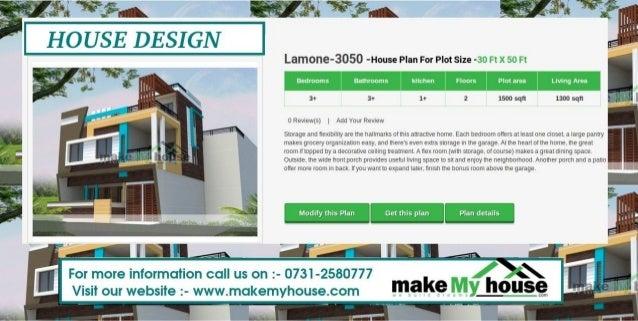 Lamone 3050  House Plan For Plot Size  30 Ft X 50 Ft ...
