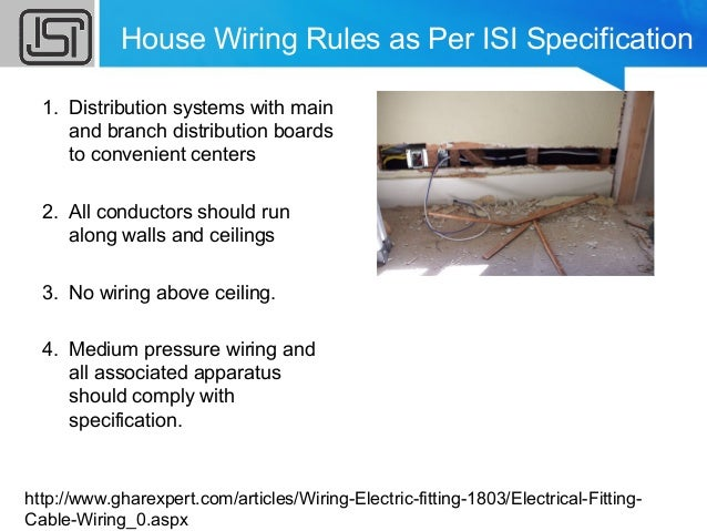 House Wiring Rules In India - WIRE Center •