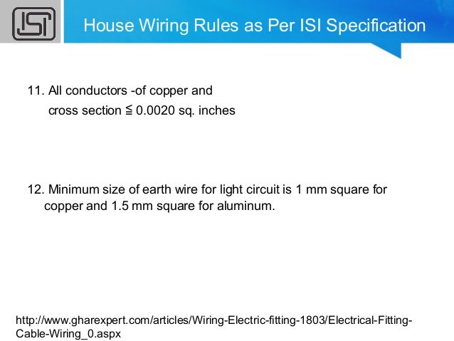 household wiring rh slideshare net house wiring rules as per isi specification house wiring rules pdf