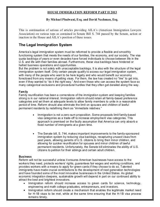 House immigration reform part ii 2013