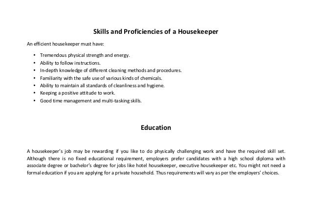 SlideShare  Executive Housekeeper Resume