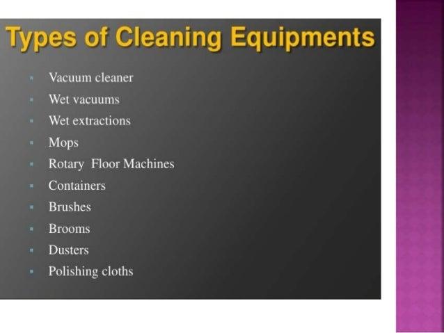 Housekeeping Cleaning Equipments