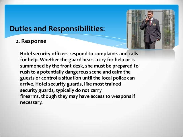 Security Officers Responsibilities. responsibilities of a ...