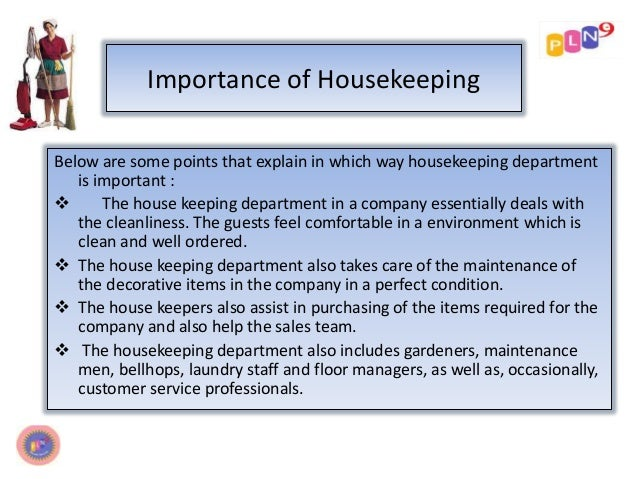 housekeeping management 5s: good housekeeping techniques for enhancing productivity, quality and  senior adviser on export quality management, and in.