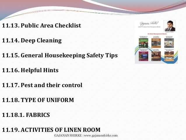 housekeeping cleaning checklist