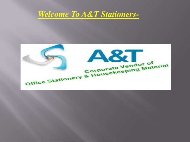Welcome To A&T Stationers-