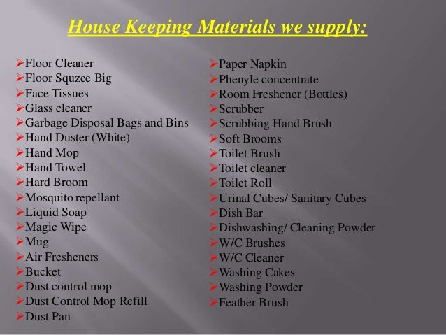 4  House Keeping Materials. Housekeeping Material Supplier in Gurgaon