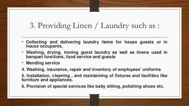 Housekeeping Organization by Shaira Cruz
