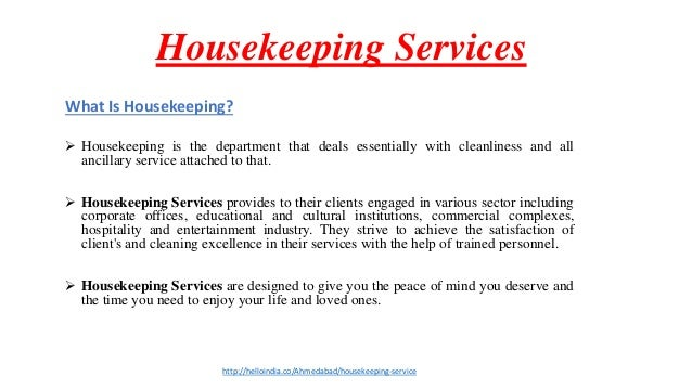 narrative training and housekeeping department Operations : housekeeping, engineering, and security of the various personnel within the modern housekeeping department it-is narrative.