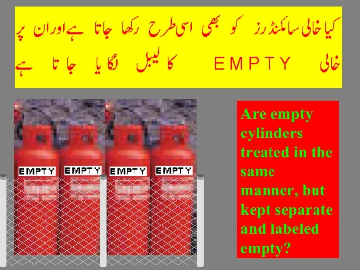 Are empty cylinders treated in the same manner, but kept separate and labeled empty?