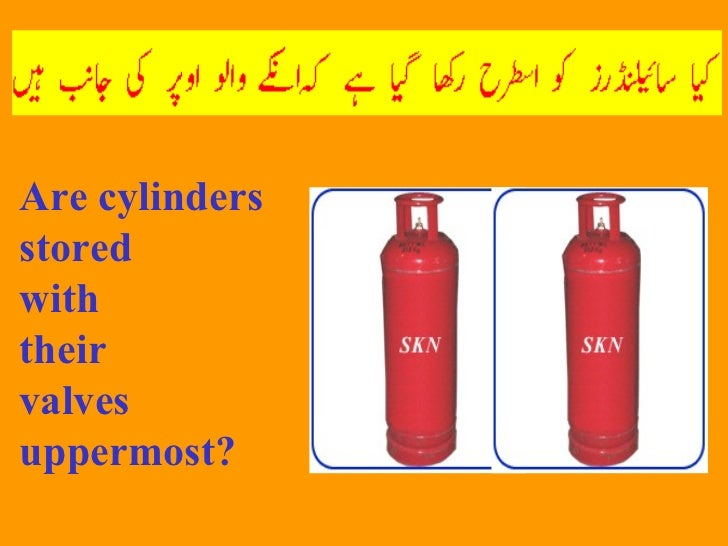 Are cylinders stored  with  their  valves uppermost?